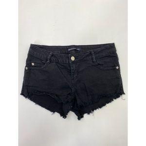 Brandy Melville Women's Jeans Shorts Black Size 40